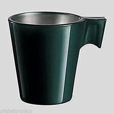 Confezione di 12 tazzine 8cl vetro colorato verde  manico bar caffè Luminarc
