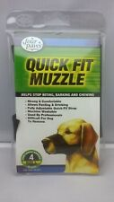 Four Paws Quick Fit Dog Muzzle ( Size 4 ) Large Black - Machine Washable