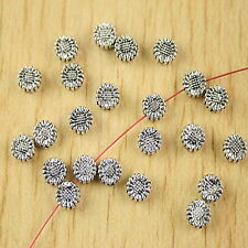 70pcs Tibetan silver sunflower spacer beads h2804