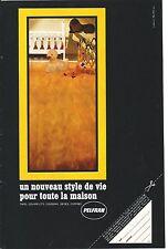 PUBLICITE ADVERTISING 1968 014 PELFRAN tapis couvre lits coussins siges coffres