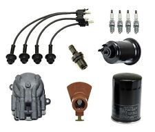 For Toyota Van 2.0 2.2 Ignition Tupe Up Kit Filters Cap Rotor Spark Plugs Wire