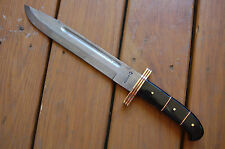 Alice G Amazing Damascus Steel Hand Forged Bowie 1-Of-A-Kind with file work
