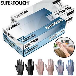 100 Disposable Vinyl Gloves Powder Latex Free Work Strong Multi-Purpose