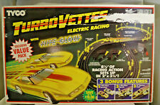 VINTAGE 1992 TYCO TURBO VETTES WITH NITE-GLOW ELECTRIC RACING SLOT CAR SET