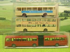 Wiking 730 etc H0 Konvolut 3 x Bus Modell OVP  (SB) A0169