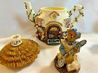 Boyds Bear Rt 33 1/3 Miss Pekoes Tea Cozy Pot Figurine 19915 2E/822 (P10)