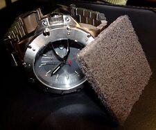 BRUSHED SATIN Stainless Steel Restoration Pad For Breitling Boschett Zodiac