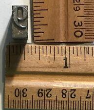 Vintage Antique Metal Printer Printing Press Block Number 9 Or 6 7869