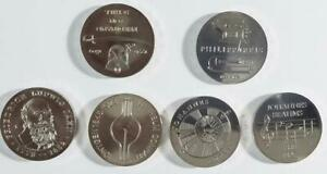 Coins of the DDR - 1972 East Germany Cuni, 6 coin lot, From Orig. Bankroll