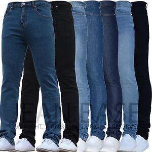 Mens Designer Brand Stretch Skinny Slim Fit Denim Jeans All Waist & Sizes Dover
