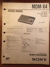 SONY MDM-X4 MULTI TRACK RECORDER ORIGINAL SERVICE MANUAL P294