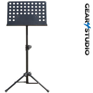 Pro Orchestral Sheet Music Stand Holder Foldable Tripod Groups/Stage/DJ/Vocal