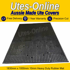 Heavy Duty Perforated Non Slip Rubber Ute/ Gym Mat (10mm Thick) 1830mm x 1000mm