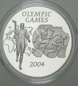GHANA 500 SIKA  2003 - OLYMPISCHE SPIELE 2004 / FACKELLÄUFER - SILBER PP