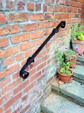 CORRIMANO ferro metallo per i passi da giardino lungo 1m color Nero per interni o esterni