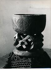 Art Brut Primitif Sculpture Totem Masque Photo P. Joly V. Cardot c. 1970  ART 86