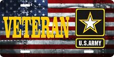 "Veteran United States Army License Plate 6"" x 12"" Made in USA by Veterans"