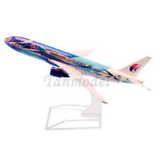 16cm alloy plane model Malaysia B777-200 sea wave freedom of space