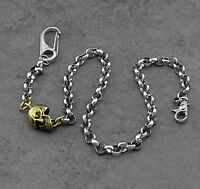SKull 316L Stainless Steel Ring&Ring  Biker Wallet Pants Key Chain CK03