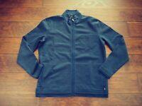 Hugo Boss Cannobio Mens Stretch Full Zip Sweater Athleisure Jacket Navy Blue 2XL