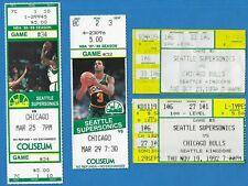 Michael Jordan Chicago Bulls Seattle Sonics Ticket Stubs Lot of 4 1988-1992 Look