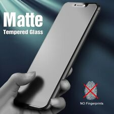 2Pcs For iPhone 8/11/12 Pro Max Matte Screen Protector Anti Glare Tempered Glass
