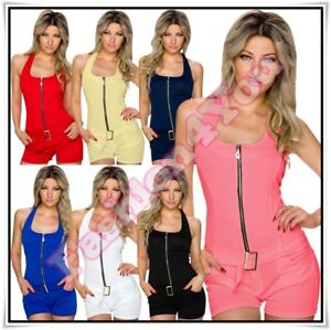 Sexy Women's Summer Playsuit Ladies Casual Short Overall One Size 8,10,12,14 UK