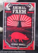 "Animal Farm Book Cover - 2"" X 3"" Fridge / Locker Magnet. George Orwell"