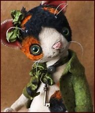 "Ready to Ship Alla Bears 7.5"" artist art cat kitten home decor Holiday Christmas"