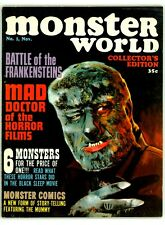 MONSTER WORLD #1 FN/VF 7.0 WOLFMAN COVER MAGAZINE 1964