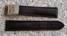 Genuine pulsera de cuero con faltschließe de acero inoxidable 22mm