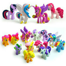 12pcs/Set Lot MY LITTLE PONY FRIENDSHIP IS MAGIC ACTION FIGURE Rainbow Kids Toys