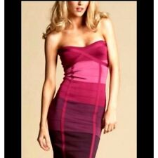 NWT bebe Strapless Ombre Purple tube strapless bodycon bandage midi top dress XS