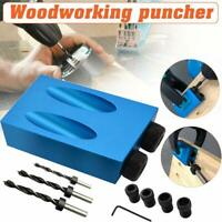1 set 15° Pocket Hole Screw Jig Dowel Drill Carpenters Woodworking Tools Locator