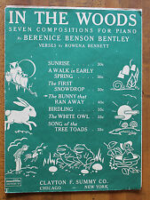 The Bunny That Ran Away by Bernice Benson Bentley for Piano 1938 sheet music