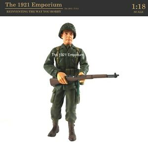 ☆ 1:18 Scale Dragon Models Action 18 Series WWII US Army Infantry Soldier Figure