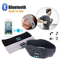 Wireless Bluetooth Headband Stereo Headset Headphone Sport Earphone Sleep W/Mic