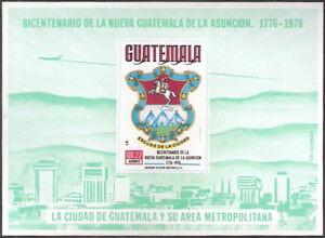 Guatemala 1976 Bicentennial Guatemala City Souvenir Sheet MLH (SC# C625a)