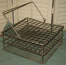 Antique TWISTED WIRE PIE CARRIER Vintage Store Countertop Display 2- Pie Cooler