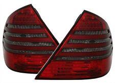 2 FEUX ARRIERE A LED ROUGE NOIR BLACK MERCEDES CLASSE E W211 AVANTGARDE