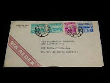 Vintage Cover,LIMA, PERU, AIR MAIL,1941,Multi-Stamped To New York,Foundation Co.