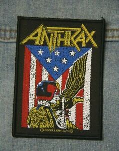 Anthrax Judge Dredd sew  on patch retro Official merchandise metal music