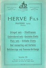 Catalogue Hervé Mamers A la fileterie 1926 lace dentelle Spitze English Deutsch