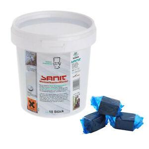 Sanit Chemie Wasserkastenwürfel Reinigungswürfel Tabs für WC (10 Stück / VPE)