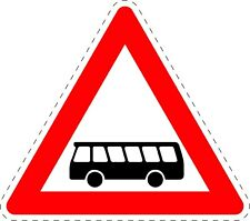 Traffic Signs Buses Safety Sticker 150mm x 150mm TR082