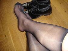 Lot 6 P mi bas men's socks sheer Noir Ref L06  T-39/46 BORD SECONDE PEAU
