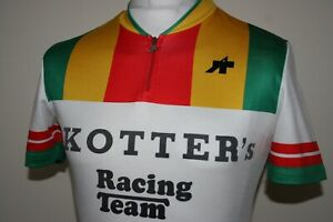 Assos Kotter's Racing Team Vintage Cycling Jersey Shirt Size L Rare Bike Top