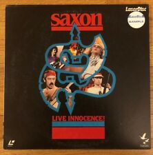 SAXON Live Innocence! - RARE 1986 JAPAN VHD VIDEO DISC Laserdisc RARE METAL