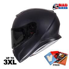 MT Thunder 3 Matt Black Full Face Motorcycle Motorbike Helmet, DVS, Crash Lid