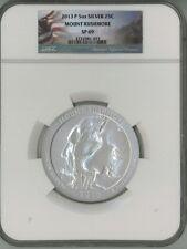 2013 P 25c 5 oz Silver ATB America the Beautiful - Mount Rushmore SP69 NGC